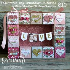nice people STAMP!: Stampin' Up! Valentines Day Countdown Tutorial by Allison Okamitsu. Uses the fabulous new Love Blossoms DSP, Love Blossoms Embellishment Kit, and First Sight Stamp Set.