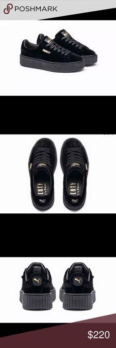 4163d7c3b1f Rihanna Puma X Fenty Velvet Black Creepers Brand new