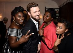 Danielle Brooks, Justin Timberlake, Adrienne C. Moore & Yvette Nicole Browns Brunch buddies! The stars have a blast at the Variety Awards Nominees Brunch in Los Angeles.