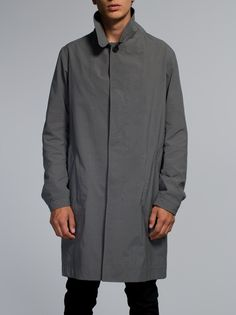 Sander Coat Japanese Nylon Antracite - Nudie Jeans Online Shop
