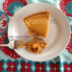 Raw Vegan Recipe - Pumpkin Pie (gluten-free, dairy free)