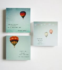The Whimsical hot air balloons set of 3 photo by SusannahTucker, $48.45