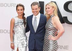"""Matt Damon Photos - Alicia Vikander, Matt Damon and Julia Stiles attend the """"Jason Bourne"""" European premiere at the Odeon Leicester Square on July 2016 in London, England. - 'Jason Bourne' - The European Premiere - Red Carpet Julia Stiles, Matt Damon Ben Affleck, Matt Damon Jason Bourne, Alicia Vikander, Jazz At Lincoln Center, Universal Pictures, Hollywood Stars, Beautiful Dresses, Movies"""