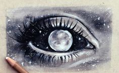art black and white draw drawing drawings draws eye galaxy gray moon planets stars universe First Set on Moon Drawing, Painting & Drawing, Drawing Tips, Drawing Ideas, Drawing Pictures, Moon Painting, Drawing Tutorials, Painting Tips, Drawing Reference