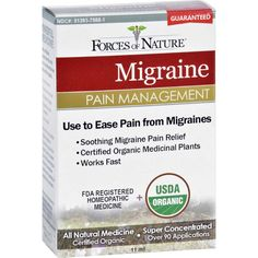 Forces of Nature Organic Migrane Pain Management - 11 ml Fast Acting All Natural Migraine Medication Fast Acting All Natural Migraine Medication Migraine Pain M Insomnia Remedies, Natural Headache Remedies, Sleep Remedies, Migraine Pain, Migraine Relief, Pain Relief, Migraine Remedy, Chronic Migraines, Chronic Fatigue