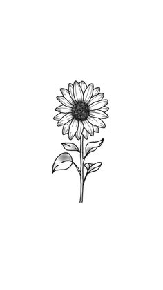 Drawing Tips sunflower drawing Sunflower Drawing, Sunflower Tattoos, Sunflower Tattoo Design, Drawing Flowers, Painting Flowers, Flower Design Drawing, Cute Tattoos, Black Tattoos, Small Tattoos
