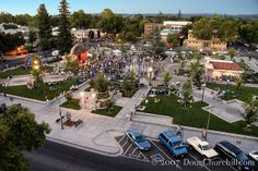 Chico, California - the downtown plaza. Not the same since they paved Central Park :-( Chico California, California Travel, Northern California, Beautiful Places To Live, Beautiful Park, Chico State, Plaza Design, Local Events, Sierra Nevada