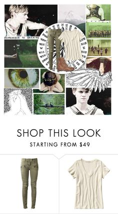 """Newt // The Maze Runner"" by alpacaamazing ❤ liked on Polyvore featuring COVERGIRL, Balmain, Patagonia and Freebird"