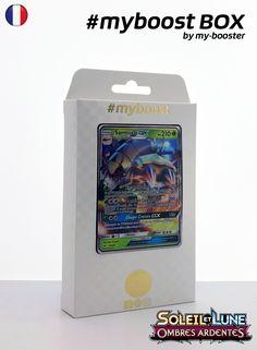 Coffret #myboost SARMURAI GX Contient 10 cartes Pokemon francaises Soleil et Lune 3 neuves dont : - la carte SARMURAI GX 17/147 210PV de la serie Soleil&Lune 3 - 1 carte Holographique ou Reverse - 1 carte 100PV - 1 carte 90PV - 1 carte 80PV my-booster, l offre POKEMON PREMIUM