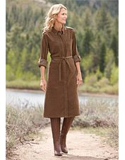 Stay sharp and look terrific in our button-front shirtdress for women. Classy Women, Female Form, Shirtdress, Fashion Outfits, Modest Fashion, Short Hair Styles, Cute Outfits, High Neck Dress, My Style