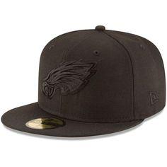 size 40 ce92e 29891 Men s New Era Philadelphia Eagles Black on Black 59FIFTY Fitted Hat