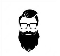 All the men I am seeing in 2019 have the full beard too! Beard Silhouette, Beard Images, Beard Logo, Barber Shop Decor, Beard Art, Beard Rules, Hipster Beard, Art Diy, Beard Styles