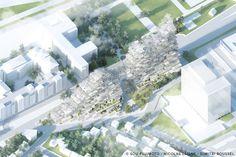 """Sou Fujimoto, Nicolas Laisné and Dimitri Roussel to Build 28,000 sqm """"Village Vertical"""" in Grand Paris,© Sou Fujimoto, Nicolas Laisné and Dimitri Roussel"""