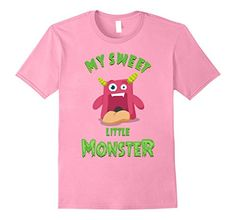 Mens My Sweet Little Monster T-Shirt for Adults and Kids ...