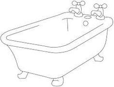 Resultado de imagem para imagem de banheira para colorir
