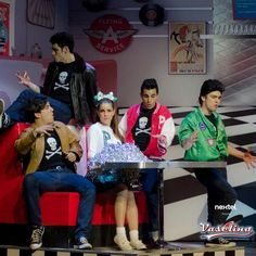 Kiko, Tacho, Memo, Lalo y Paty en Vaselina  #Kiko #TeamKiko #Vaselina #Mexico #obra #teatro #musical #2013 #TeatroNextel #AlejandroSpeitzer #AlexSpeitzer actor
