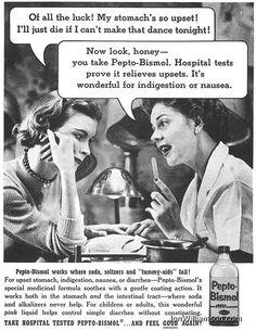 Pepto-Bismol - 19580125 Post on Flickr.            Website | Flickr | Tumblr | Twitter       #Vintage#Ads#Ad#Advertisement#1958#Pepto-Bismol#Advertising#History