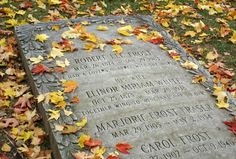 Robert Frost's Grave in Bennington, Vermont. A place I went quite often since it was down the road from my first college.