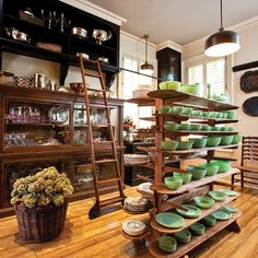 Paula Deen's dish pantry