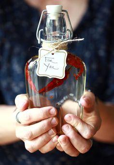 infused vinegar: dinner party favors