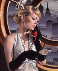 Art Deco Paintings, Art Deco Artists, Vintage Art, Vintage Modern, Retro Art, Vintage Images, Tamara Lempicka, Florence Academy Of Art, Kehinde Wiley