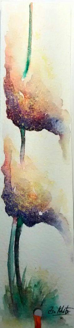 Flowers watercolor. Elsa Nutz.