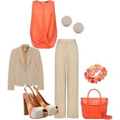 Office Spring Wear by womanwise... make it more casual with flats & maybe lose the jacket
