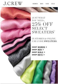 j crew- sweater rainbow email