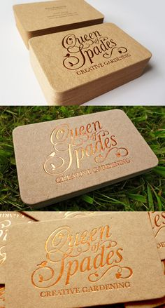 Business card design for Queen of Spades Design via Behance.