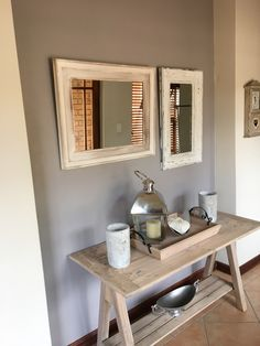 Dove grey entrance hall - touch of French flair!