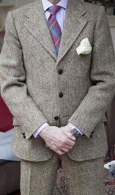 Grey Fox, vintage Harris tweed suit