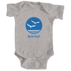 Myrtle Beach, South Carolina Seagull - Infant Onesie/Bodysuit