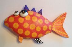 Soft Sculpture Funky Fresh Fish by jodieflowers on Etsy