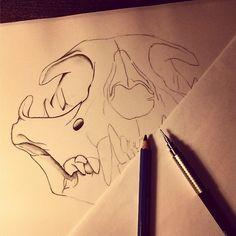 Bobcat skull in the making! Skull, Graphic Design, Creative, Illustration, Photography, Art, Art Background, Photograph, Fotografie