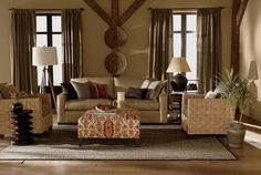 THE MANY TEXTURES ADD DEPTH & INTEREST.THE FURNITURE & DECOR R VERSITLE,PERFECT 4 CABINS,LOG HOMES,COUNTRY WESTERN,SOUTHWESTERN,WESTERN,COVERED OUTDOOR ROOMS,FLORIDA ROOMS,ENCLOSED PATIOS & MORE. DEPENDING ON WHICH STYLE U WANT,ADD ACCESSORIES IN THAT STYLE,PALM TREES 4 TROPICAL & SOUTHWESTERN THEMES.'cherie