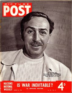"There's something ironic about a magazine cover with Walt's picture asking, ""is war inevitable""."