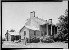 Ben Lomond, Manassas, Prince William, VA.  The small white house behind the main house was a 20th century addition and is now gone from the site.