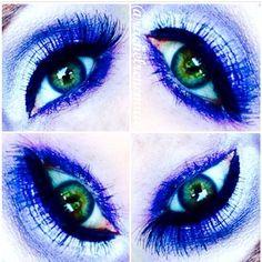 A maquiadora americana @rachelrenemua fez essa maquiagem com os Jumbos Milk e Lavender e Mechanical Pencil Eye Black e Purple