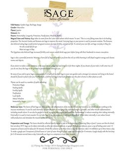 Free BOS Page on the Magical and Medicinal Uses of Sage
