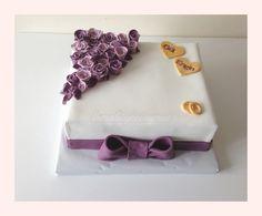 nişan pastası - isim ve çiçeks