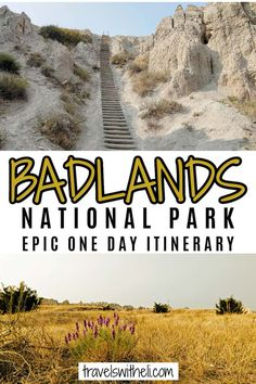 Have only one day to spend in Badlands National Park? This Badlands National Park itinerary will help you make the most of your visit with the best route to take, viewpoints, animal sightings, and information on the awesome Notch Trail Hike. #travelswitheli Badlands National Park, National Parks, Travel With Kids, Family Travel, Amazing Adventures, Travel Information, One Day, South Dakota, Hiking Trails