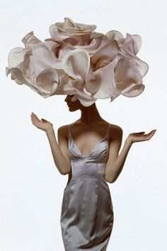 Hat by designer Philip Treacy (photo: Irving Penn for Vogue 1995)