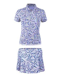 Love printed outfits? Check out Sweet Lavender Monterey Club Ladies & Plus Size Geometric Print Swing Golf Outfit! #golf #ootd #lorisgolfshoppe