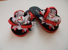 St louis Cardinals Flip Flops by VivalaBows on Etsy, $18.00