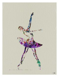 Ballerina Watercolor 4 Premium Poster by NaxArt at Art.com