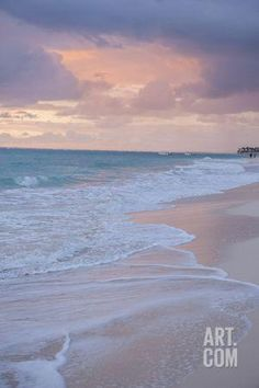 Sunrise, Bavaro Beach, Higuey, Punta Cana, Dominican Republic Photographic Print by Lisa S. Engelbrecht at Art.com