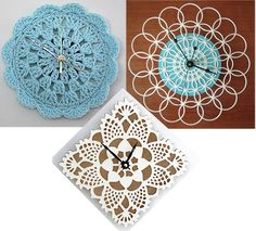 DIY Doily Clock - Happiness is Homemade