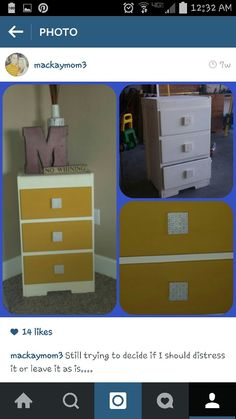 Free dresser I turned into something I love-yellow-chalk paint-old