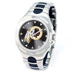 Game Time NFL Men's Washington Redskins Victory Series Watch, Silver