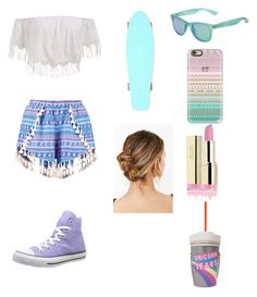 """""""Amusement park outfit"""" by anyelis-m-torres on Polyvore featuring Boohoo, Converse, Polaroid and Casetify"""
